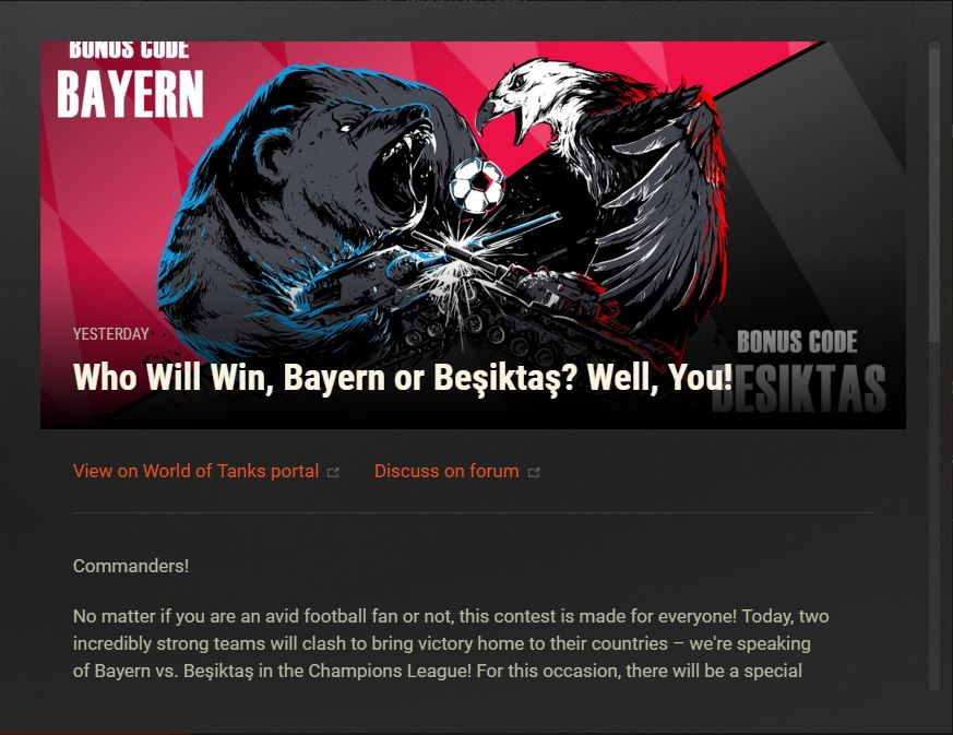 WoT - Bonus Code: Bayern - The Angry Ducks Clan Official Website